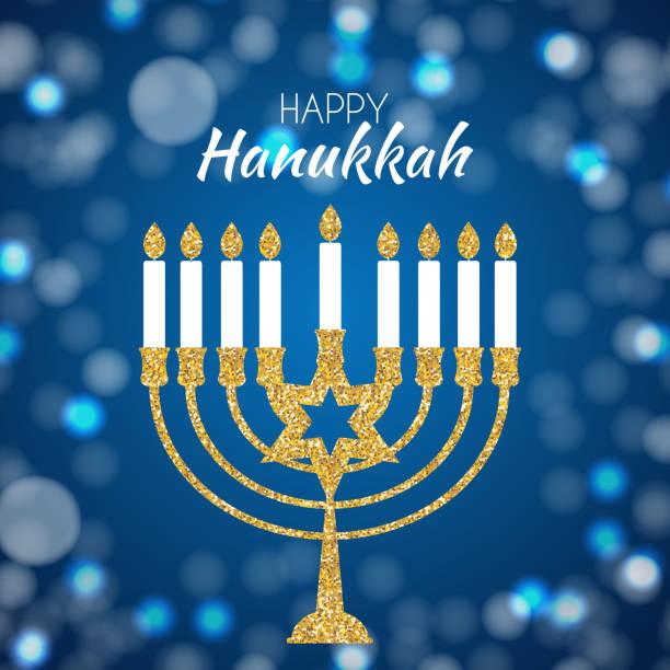 ilustraciones, imágenes clip art, dibujos animados e iconos de stock de feliz hanukkah, fondo de la festividad judía. ilustración de vector. hanukkah es el nombre de la festividad judía - jánuca