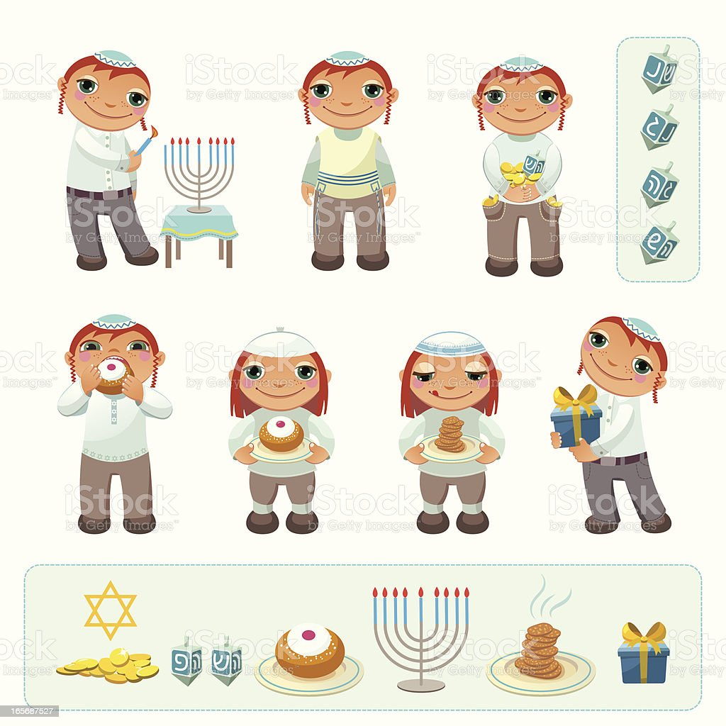 Happy Hanukkah! vector art illustration