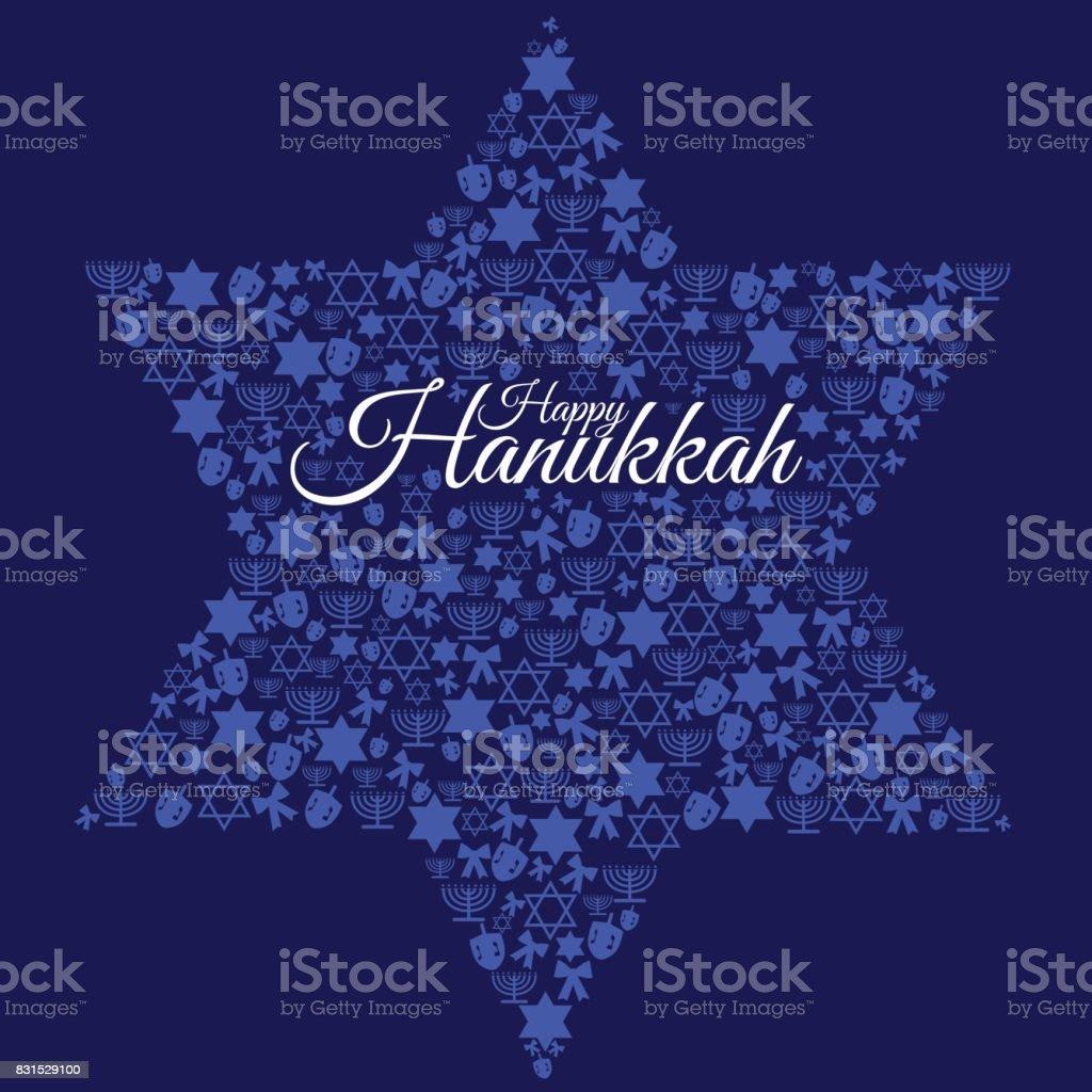 Heureux Hanoukka - Illustration vectorielle