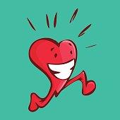 Happy heart running doing some cardio