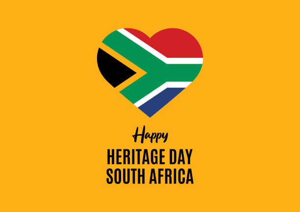 stockillustraties, clipart, cartoons en iconen met happy heritage day zuid-afrika vector - traditie