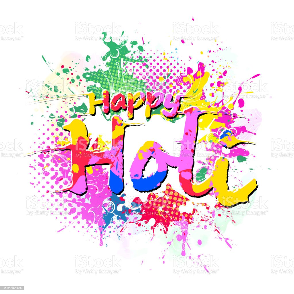 Happy Holi A Spring Festival Of Colors Royalty Free