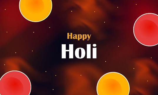happy holi banner design
