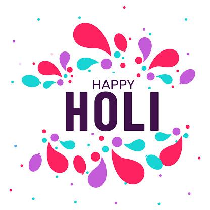 Happy Holi celebration, Indian Festival of Colours