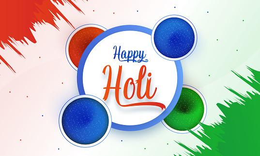 Happy Holi colorful Background stock illustration