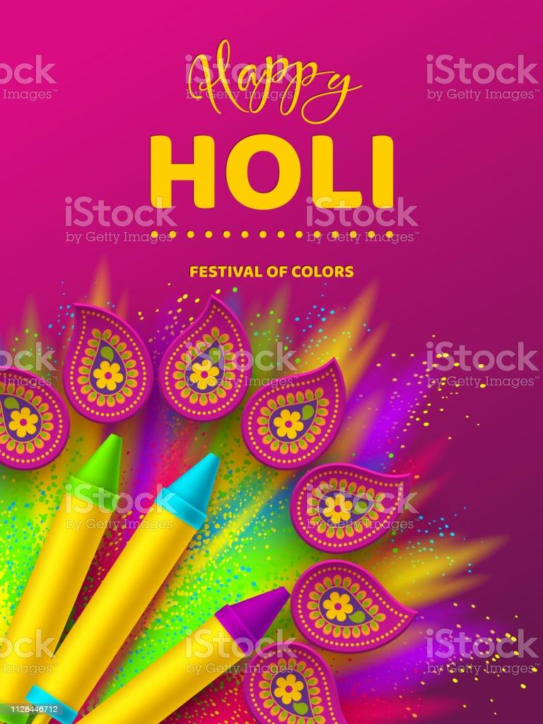 Happy Holi design coloré pour le Festival des couleurs. happy holi design coloré pour le festival des couleurs vecteurs libres de droits et plus d'images vectorielles de affiche libre de droits