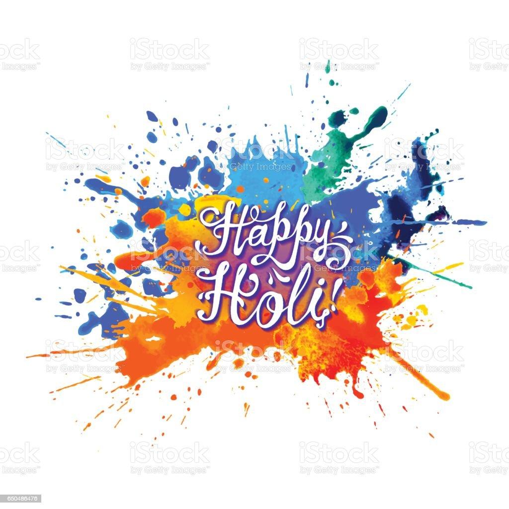 Happy Holi! Rainbow splash paint.
