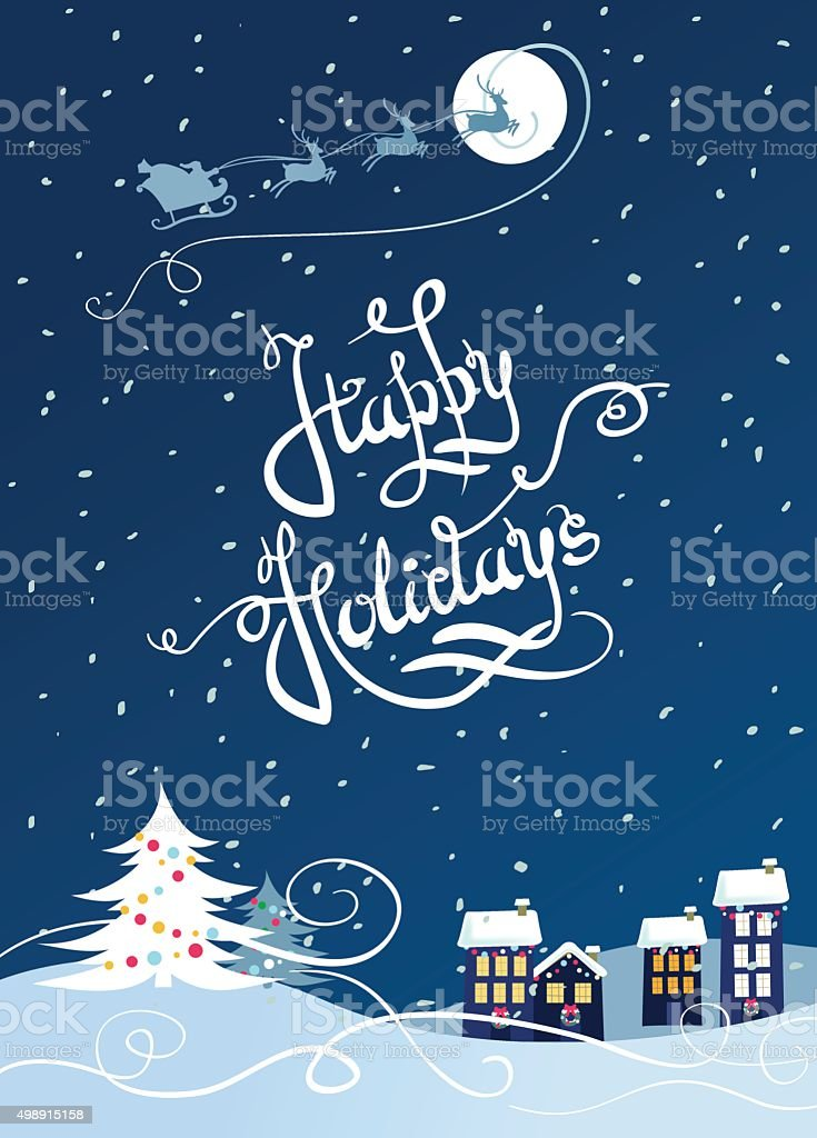 Happy holiday card vector art illustration