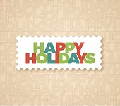 Happy Holidays seamless text background with space for your content. EPS 10 file. Transparency effects used on highlight elements.