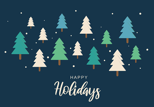 Happy Holidays background. Vector