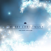 Colorful Happy Holidays Card, Flyer or Cover Design with Sparkling, Shimmering Background - Template in Freely Scalable and Editable Vector Format