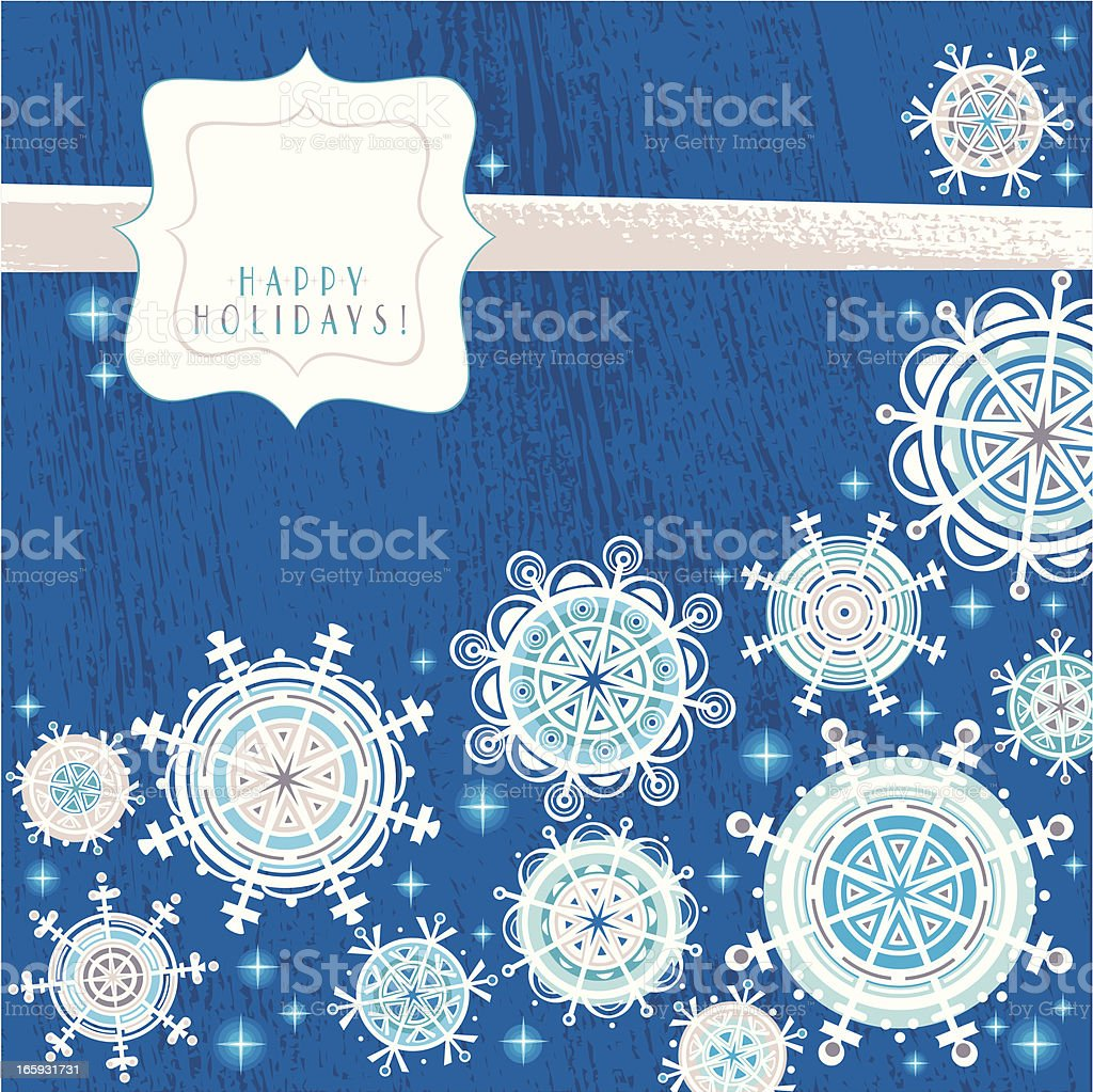 Happy Holidays Card vector art illustration