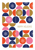 istock Happy Holidays card with modern geometric background. 1190625380