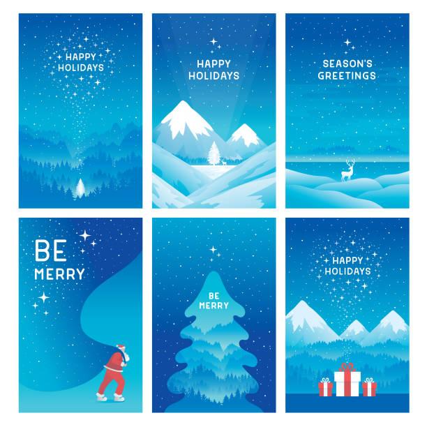 happy holidays cards - happy holidays stock illustrations, clip art, cartoons, & icons