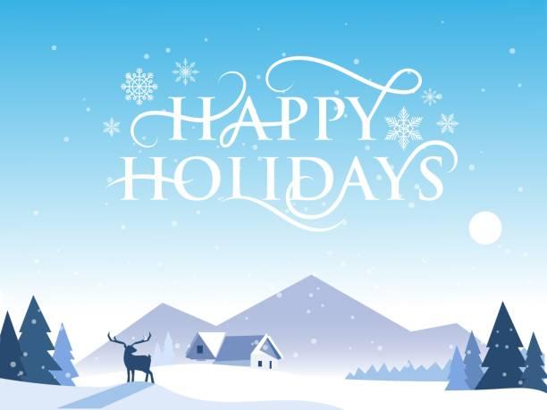 節日快樂設計海報 - happy holidays 幅插畫檔、美工圖案、卡通及圖標