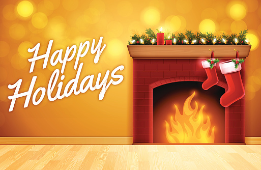 Happy Holidays Fireplace