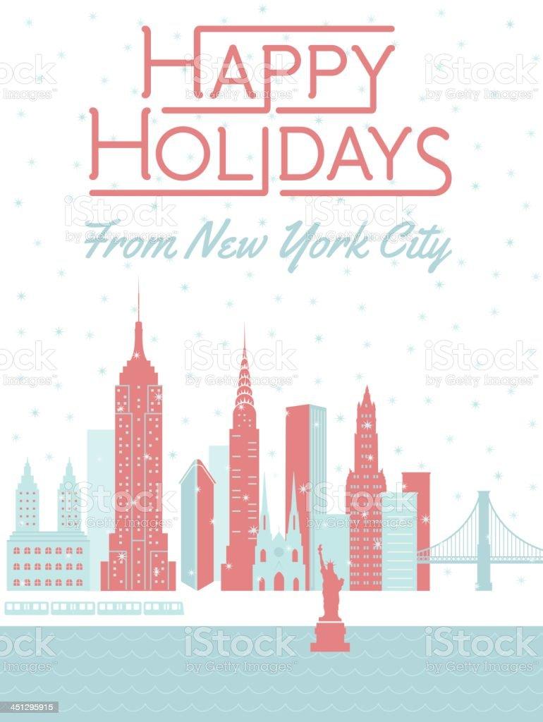 Happy Holidays from New York City royalty-free stock vector art