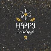 Happy holidays glitter background