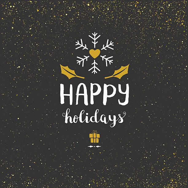 happy holidays glitter background - happy holidays stock illustrations, clip art, cartoons, & icons