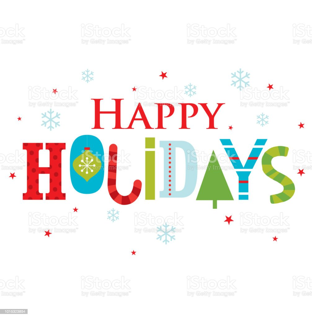 Best Happy Holidays Illustrations Royalty Free Vector