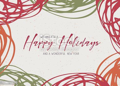 istock Happy Holidays greeting card 1286715070