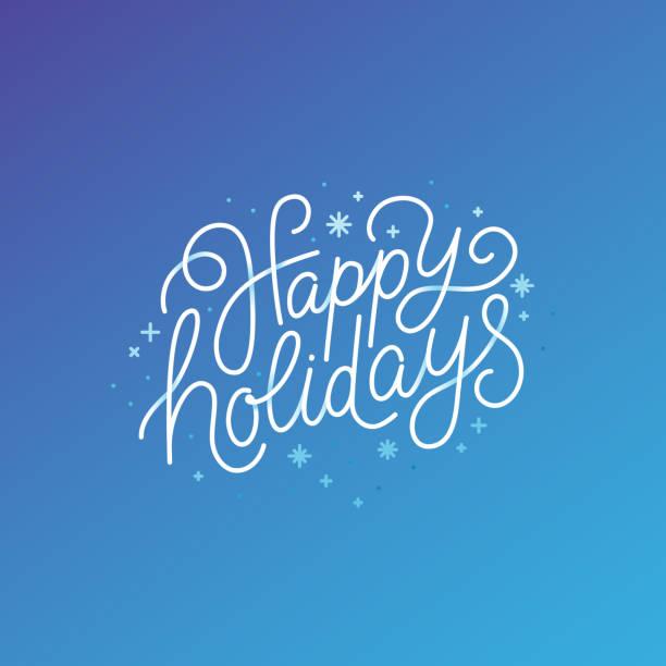 節日快樂-賀卡與手工刻字文本 - happy holidays 幅插畫檔、美工圖案、卡通及圖標