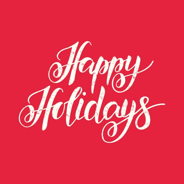 快樂假期手繪字母排版 - happy holidays 幅插畫檔、美工圖案、卡通及圖標
