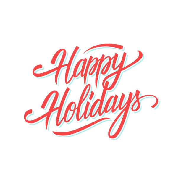 快樂假日手寫文字設計為季節性節日賀卡和請柬。 - happy holidays 幅插畫檔、美工圖案、卡通及圖標