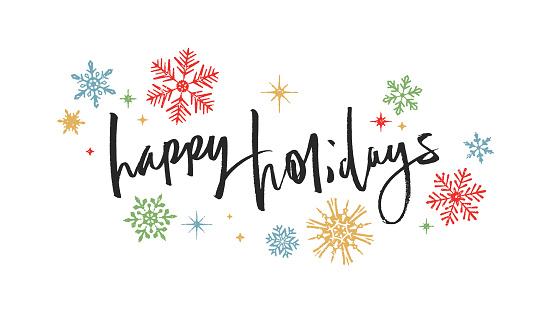 Happy Holidays Handwritten Card