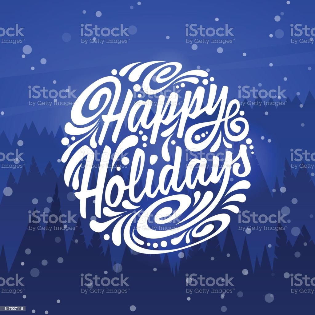 Happy Holidays Holidays Greeting Card Stock Vector Art More Images