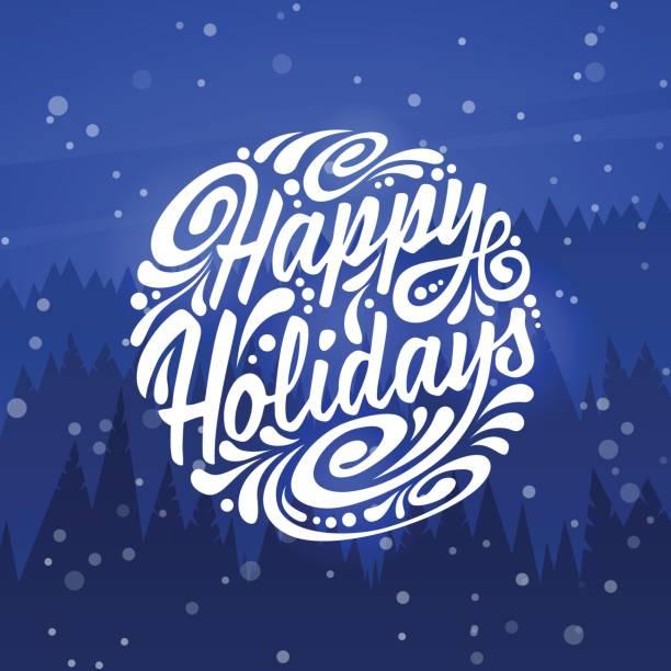 happy holidays. holidays greeting card - happy holidays stock illustrations, clip art, cartoons, & icons