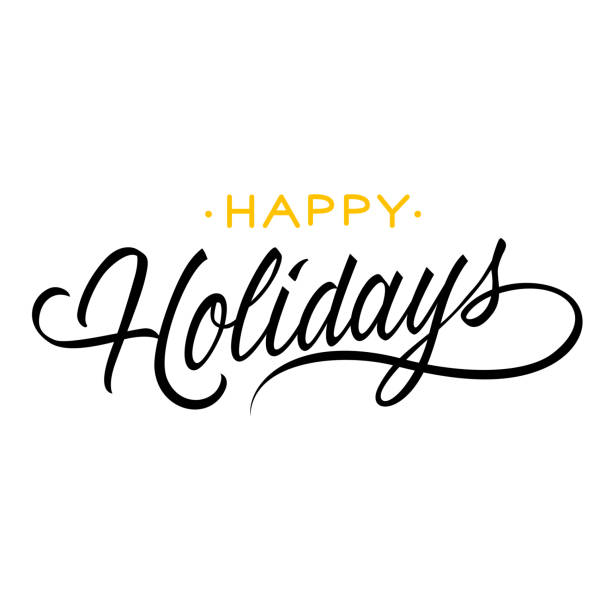 刻字的節日快樂 - happy holidays 幅插畫檔、美工圖案、卡通及圖標