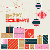 istock Happy Holidays Postcard - Christmas Card 1187456280