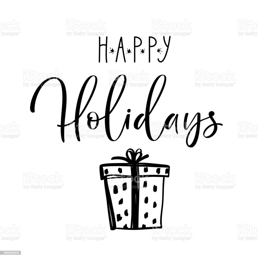 happy holidays postcard template christmas card concept