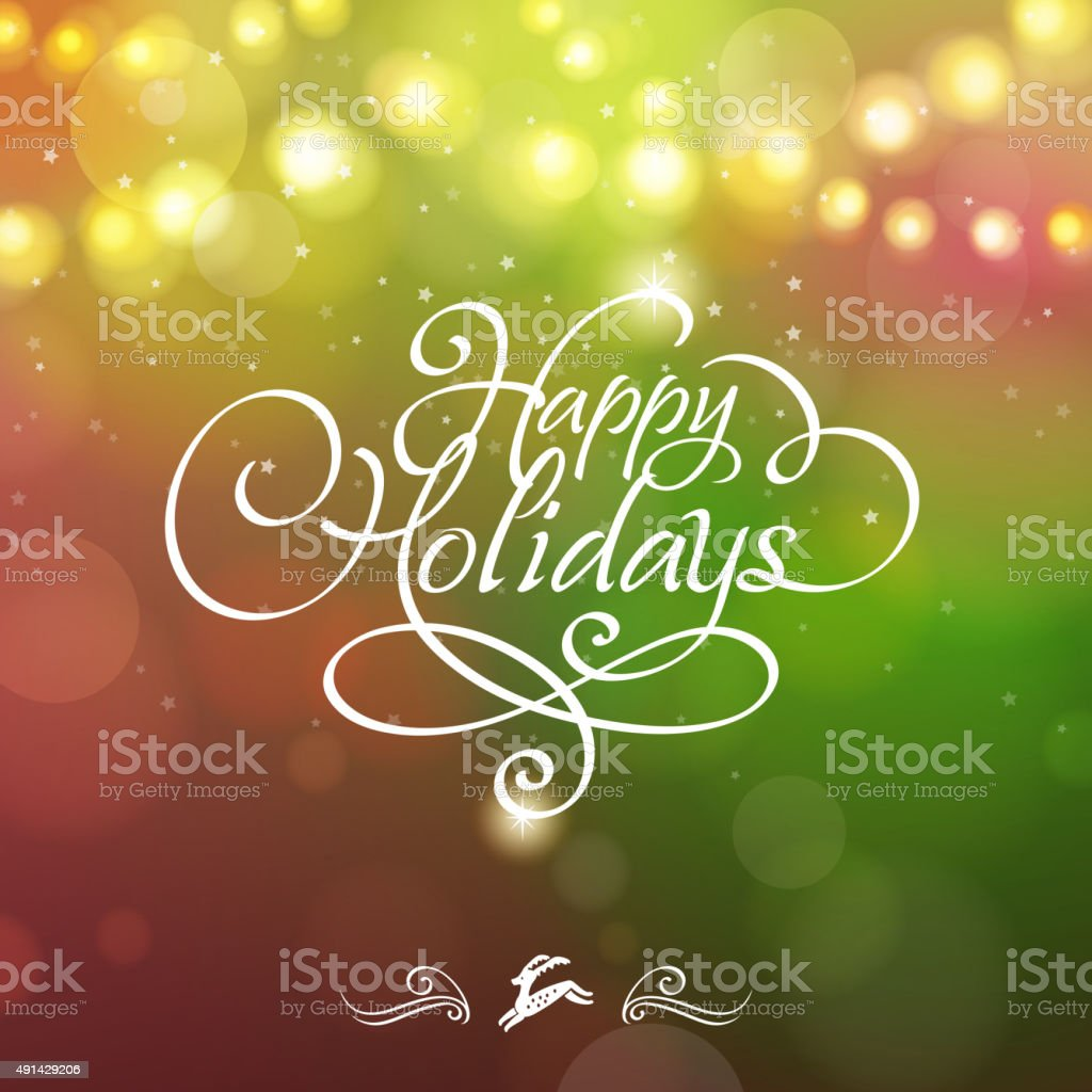 Happy holidays starry background vector art illustration