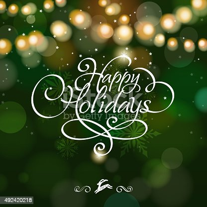 istock Happy holidays starry background 492420218