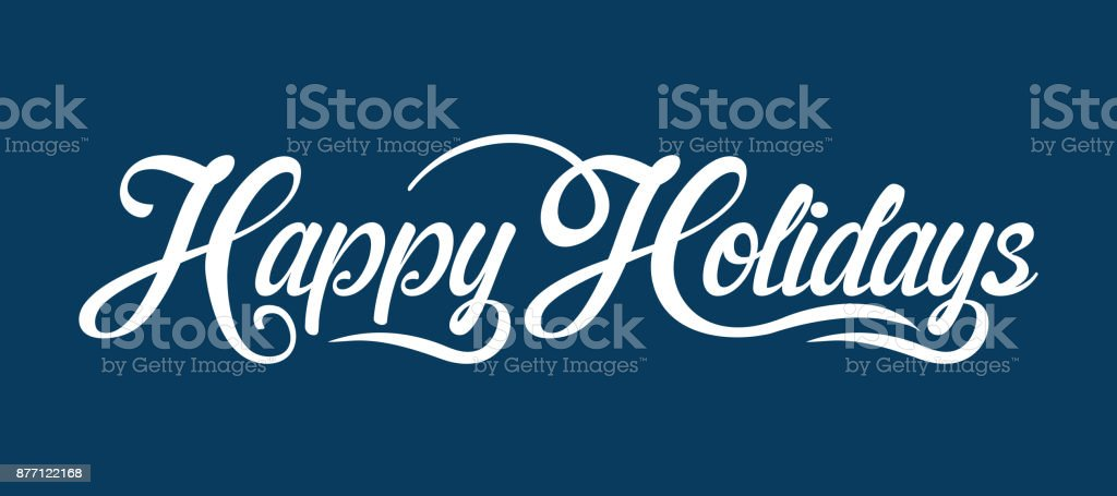 Happy Holidays text - Векторная графика Векторная графика роялти-фри