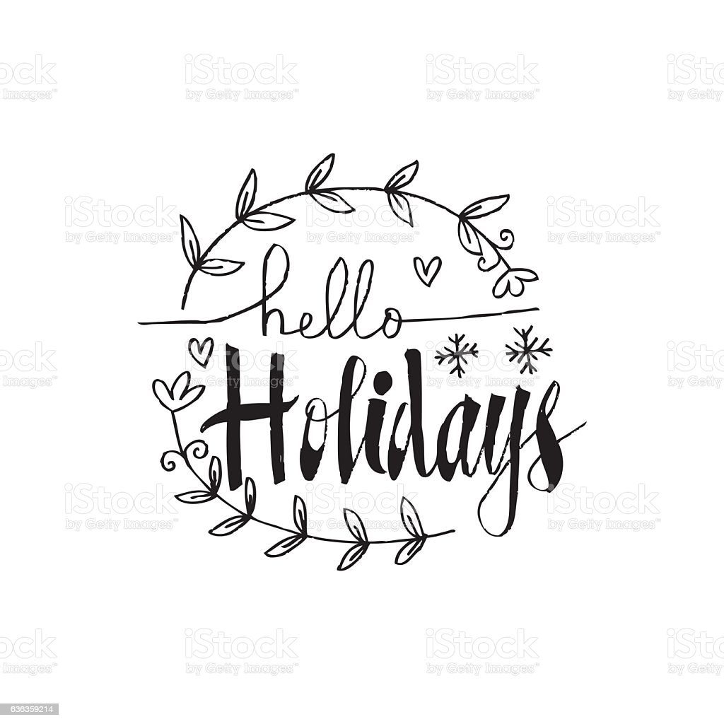 Happy holidays vector hand drawn sign for design greeting cards happy holidays vector hand drawn sign for design greeting cards royalty free happy holidays m4hsunfo