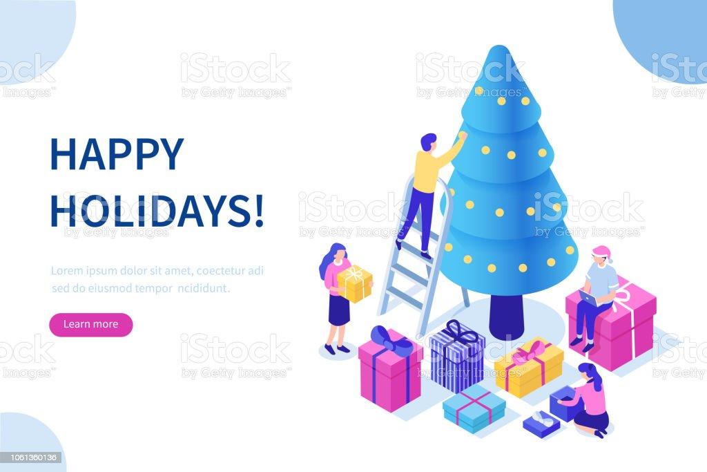 happy holidays happy holidays - immagini vettoriali stock e altre immagini di 2019 royalty-free