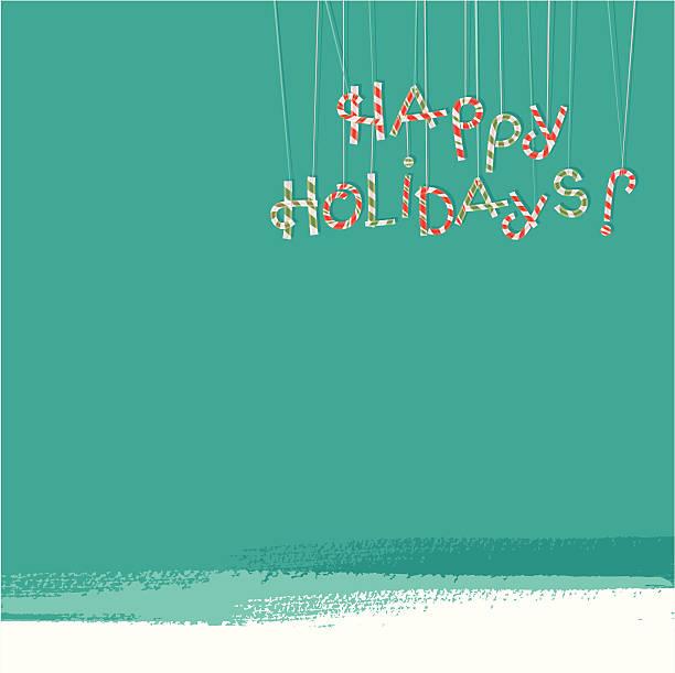 Happy Holidays! (Winter Seasons) vector art illustration
