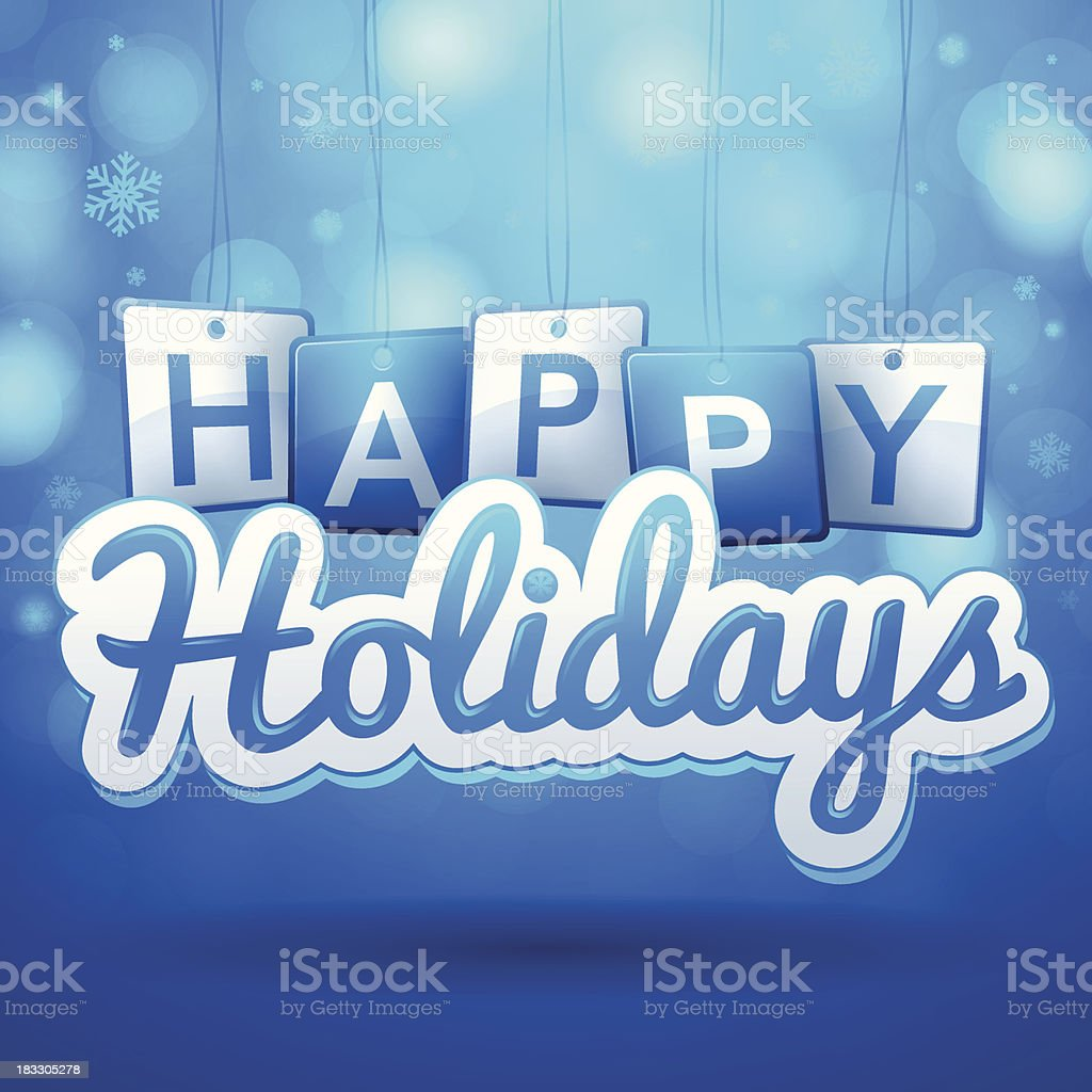 Happy Holidays royalty-free stock vector art
