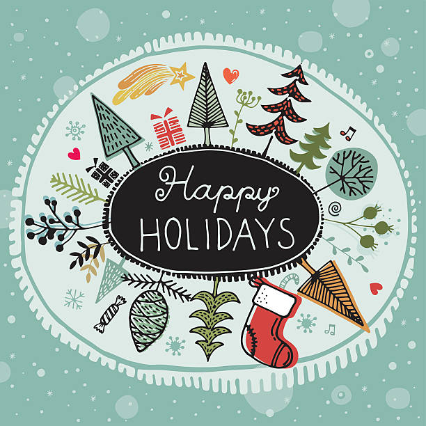 Happy Holidays vector art illustration