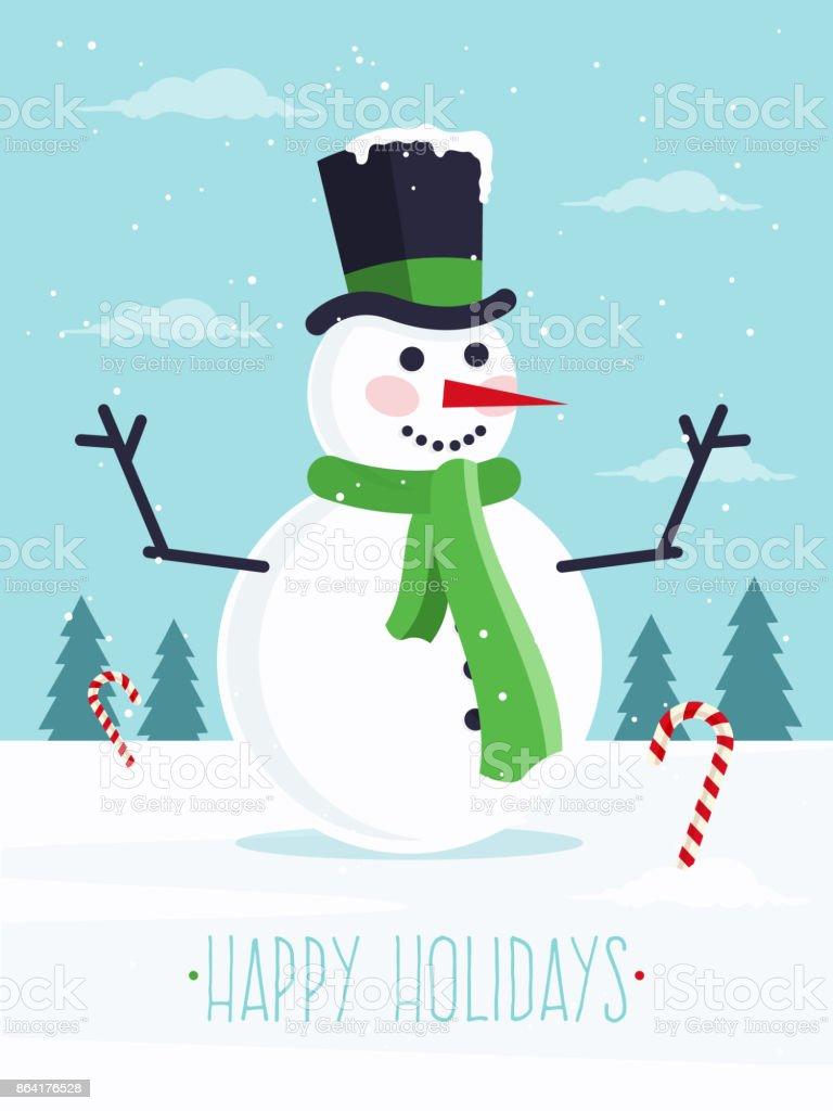 Joyeuses fêtes - Illustration vectorielle
