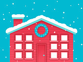 istock Happy Holidays Winter Christmas House 1187407219
