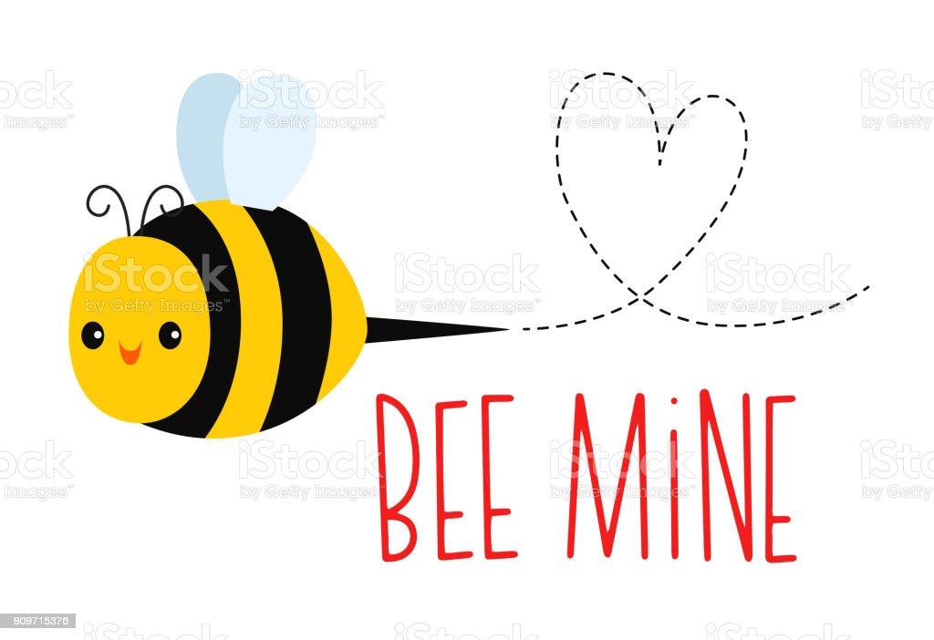 Happy Honey Bee vector art illustration