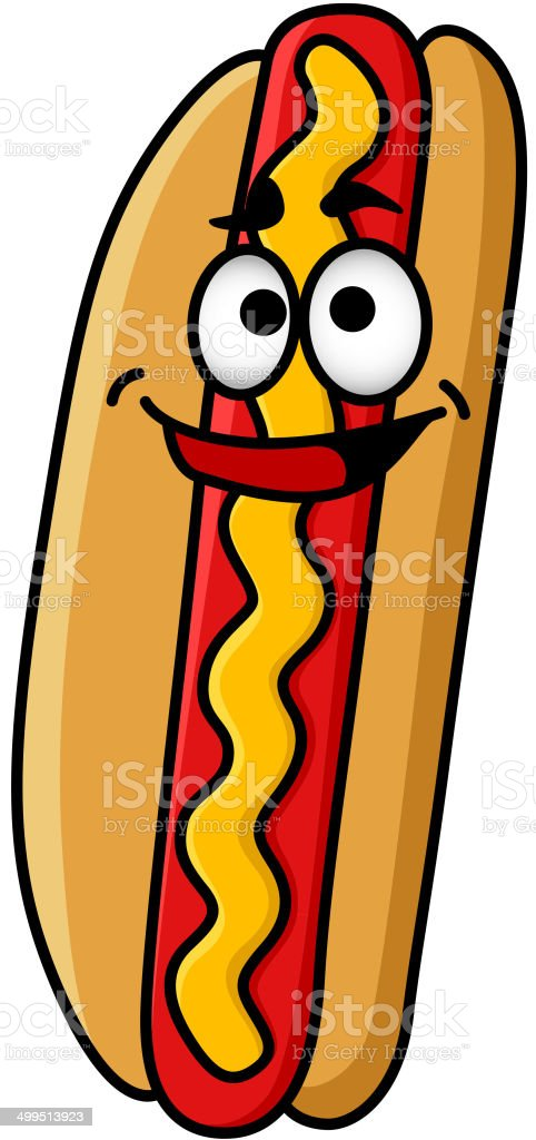 Happy hot dog with moustard royalty-free happy hot dog with moustard stock vector art & more images of american culture