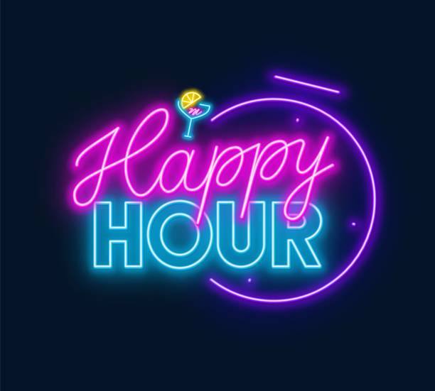 Happy Hour Illustrations, Royalty-Free Vector Graphics