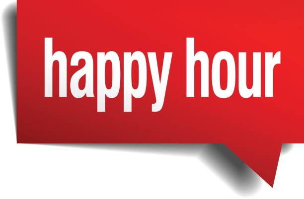 happy hour red 3d realistic paper speech bubble happy hour red 3d realistic paper speech bubble bonus march stock illustrations
