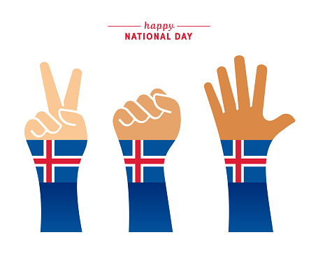 Happy Icelandic National Day Greeting Card
