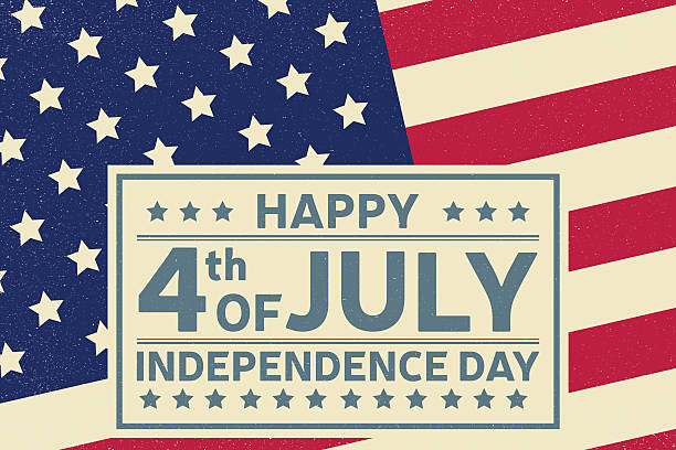 Happy Independence Day background template. Happy Independence Day background template. Happy 4th of july poster. Happy 4th of july and Independence day on top of American flag. Patriotic banner. Vector illustration. circa 4th century stock illustrations
